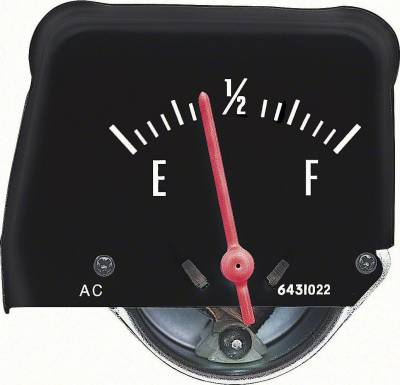 FUEL GAUGE CONSOLE WITH BLACK FACE