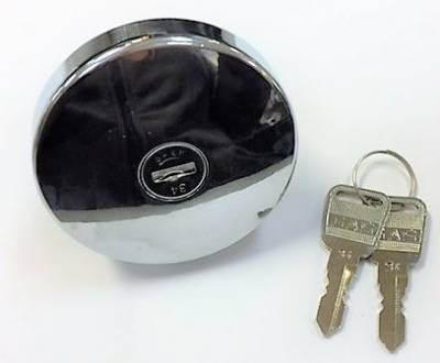 LOCKING GAS CAP - CHROME