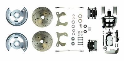 "Helix 324619 55-59 Chevy Truck FW 9/"" Single Brake Pedal kit Drum~Lg Oval Chr Pad"