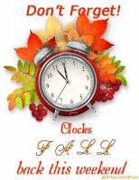 Daylight Savings Ends - Fall Back