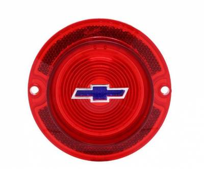TAIL LIGHT LENS - RED WITH BLUE BOWTIE