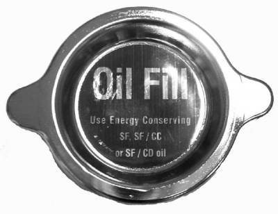 GM Restoration Parts - OIL FILLER CAP - CHROME