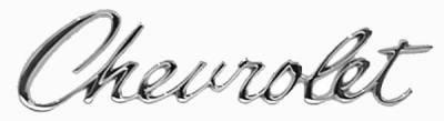 HEADER/TRUNK ~CHEVROLET~ SCRIPT